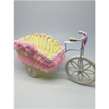 Велосипед декоративный арт.XY-3 цвет: светло-розовый