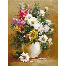 """Картина для рисования по номерам """"Букет в белой вазе"""" арт. GX 5533 m"""
