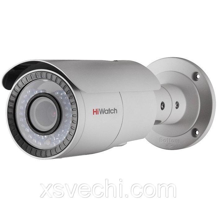 Видеокамера антивандал HiWatch DS-T106 (2.8-12 mm), TVI, 1 Мп, 720Р (HD), POE, варифокал