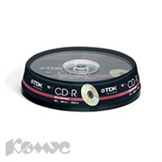 Носители информации TDK CD-R 700Mb 52x Cake/10