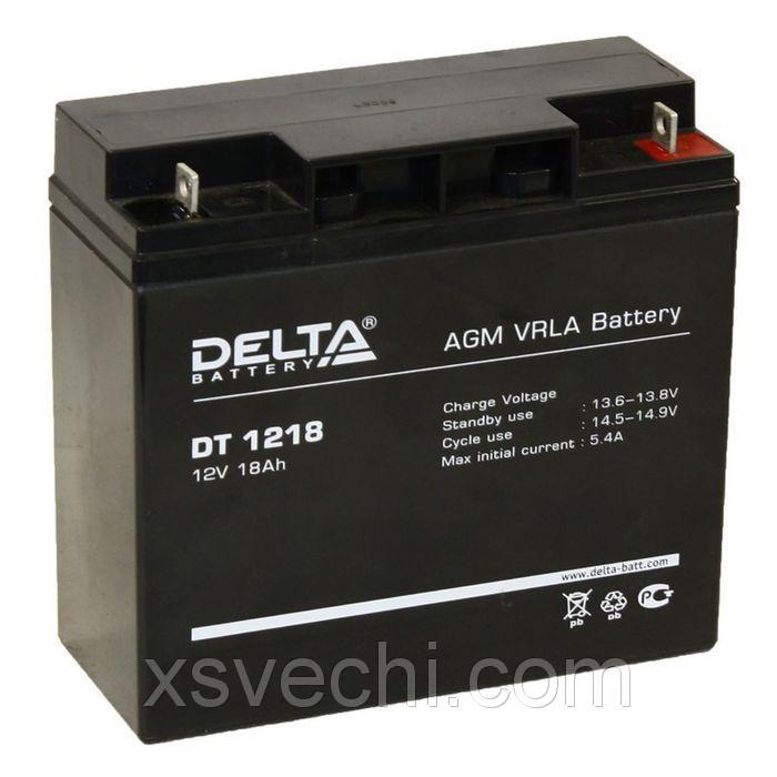 Аккумуляторная батарея Delta 18 Ач 12 Вольт DT1218