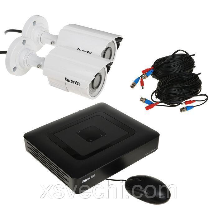 Комплект видеонаблюдения Falcon Eye FE-104AHD KIT Light.1, AHD, 1 Мп, 2 уличных