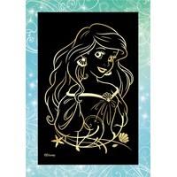 Гравюра малая Принцессы Ариэль с эффектом золота Грд-005