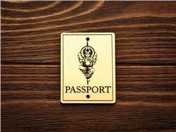 "Шильдик Passport ""Ганеша"""