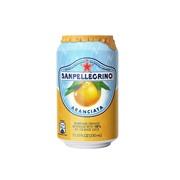 Упаковка газированного сокосодержащего напитка SanPellegrino Aranciata (апельсин) 0,33 в банке - 24 шт.