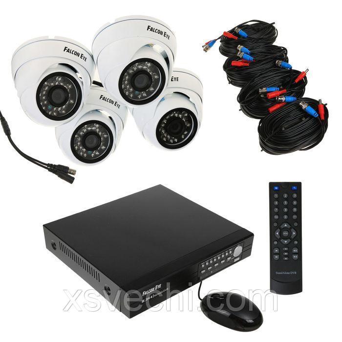 Комплект видеонаблюдения Falcon Eye FE-104AHD-KIT ДОМ.1, AHD, 1 Мп, 4 внутренних