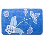 """VETTA Коврик для ванной, акрил, 50x80см, """"Цветы"""", синий"""