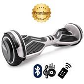 Гироскутер Hoverbot A6 Premium серебро (приложение + Bluetooth-музыка + 3 режима работы + пульт + сумка)