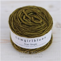 Пряжа Aran Single solid Олива, 120м/100г., Cowgirlblues, Olive