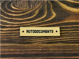 Шильдик пластиковый Autodocuments 4