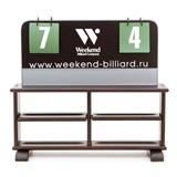 Комплект для турнира (табло + полка) русская пирамида, интернет-магазин товаров для бильярда Play-billiard.ru
