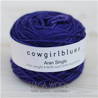 Пряжа Aran Single solid Черника, 120м/100г., Cowgirlblues, Blueberry