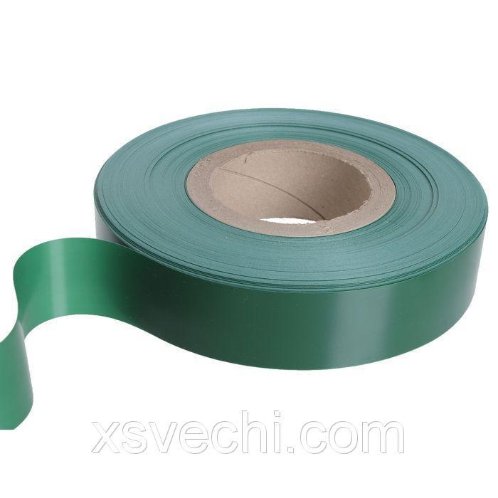 Вставка в ценникодержатель, пластиковая, цвет зелёный 100м