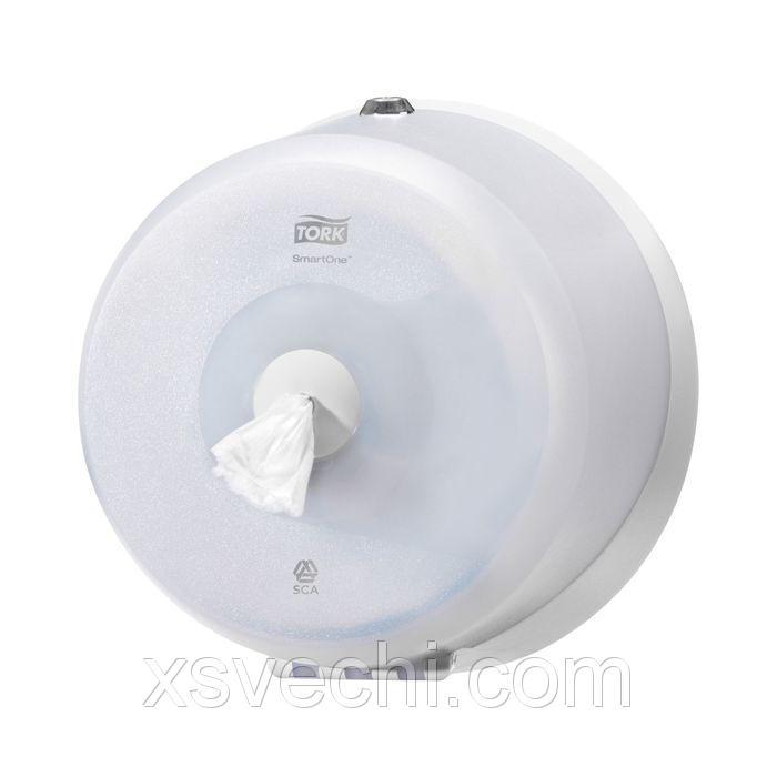 Диспенсер Tork SmartOne для туалетной бумаги в мини рулонах (T9) белый