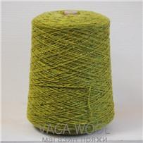 Пряжа Твид-мохер Зелень холмов 2631, 110м/50гр. Knoll Yarns, Mohair Tweed, Killala