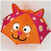 Зонт детский 3D полуавтомат Котик со свистком и ушками №28