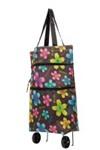 Хозяйственная складная сумка с выдвижными колесиками, цветы 2