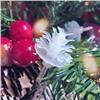 Новогодняя Led гирлянда на елку 3 м 40 ламп еловые шишки