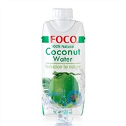 кокосовая вода FOCO 0.33л Тetra Paсk упаковка - 12 шт