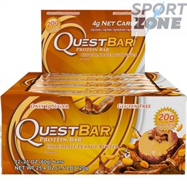 Батончик протеиновый QuestBar Chocolate Peanut Butter (12 шт)