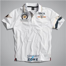 Мужская футболка поло US AIRFORCE II WHITE UNCLE SAM