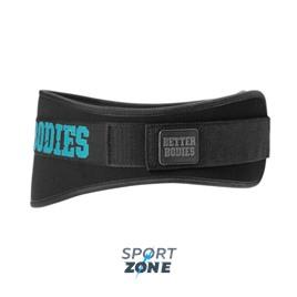 Атлетический пояс Better Bodies женский Womens gym belt, черный/голубой