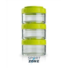 Шейкер для спортивного питания BlenderBottle GoStak зеленый