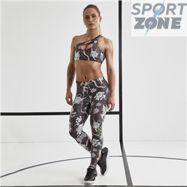 Комплект Conjunto Fitness Feminino Over Print Flowers