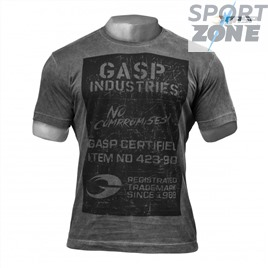 Футболка GASP Broad Street Print Tee, Wash Black