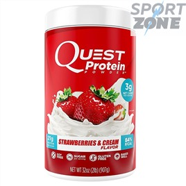 Протеин Quest Protein Powder 32serv Strawberries & Cream Клубника и Сливки