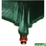 Покрывало «Милано» 12 ф (бархат зелёное/зеленая бахрома), интернет-магазин товаров для бильярда Play-billiard.ru