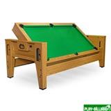 Cтол-трансформер «Twister» 3 в 1  (бильярд, аэрохоккей, настольный теннис, 217 х 107,5 х 81 см, дуб), интернет-магазин товаров для бильярда Play-billiard.ru