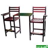 Кресло бильярдное x 2, со столешницей (светлое) 90.005.00.0, интернет-магазин товаров для бильярда Play-billiard.ru