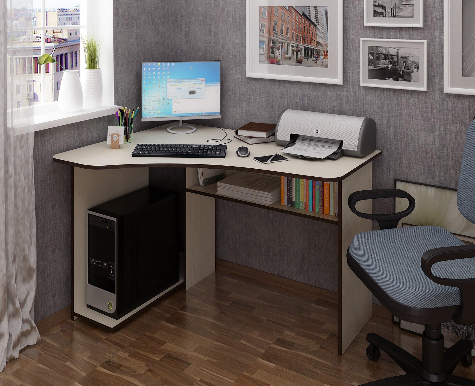 чертежи угловых компьютерных столов