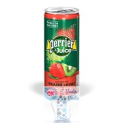 Perrier 0,25 Клубника и Киви (Strawberry & Kiwi) фруктовый напиток - 24 шт.