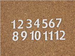Набор цифр от 1 до 12 (10)
