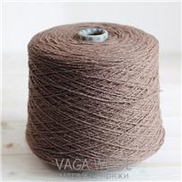 Пряжа City 024 Тирамису 144м/50гр., шерсть ягнёнка, шёлк, Vaga Wool