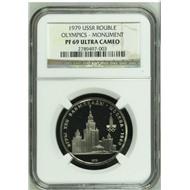 6 монет Олимпиада 80 ПРУФ NGC