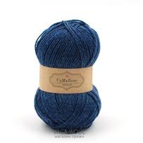 Пряжа Yaku Синий джинсовый 1831, 200м/50г, CaMaRose, Bla