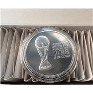 3 рубля 2017 года Чемпионат мира по футболу 2018 в России Серебро Состояние UNC!