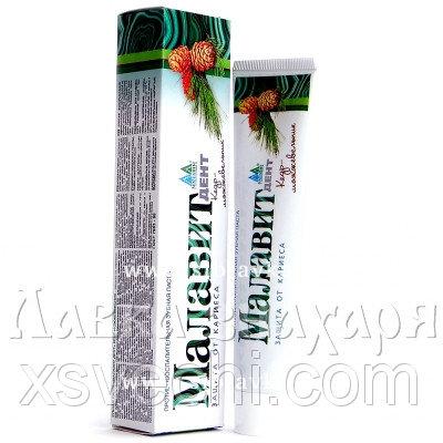 Зубная паста «Малавит Дент» Кедр-Можжевельник защита от кариеса