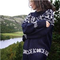 Набор с описанием свитера «REINDEER» indigo