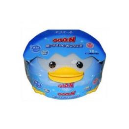 GOON Влажные салфетки для младенцев в пластиковой коробке, 70 шт.