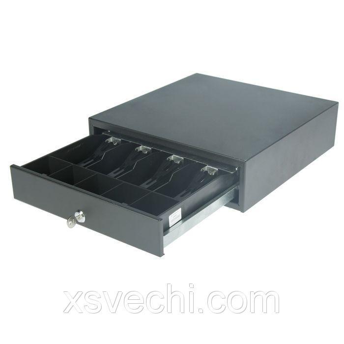 Денежный ящик ШТРИХ-midiCD, 4 отделения для банкнот, 5 отделений для монет, цвет чёрный