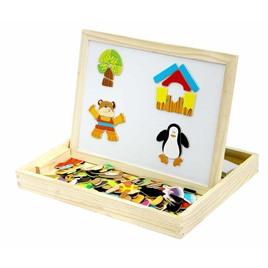 База игрушек Двухсторонняя магнитная доска с подставкой и магнитами (Животные)