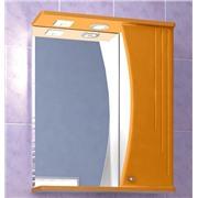 Зеркальный шкафчик Восход 55 матовый оранжевый с подсветкой