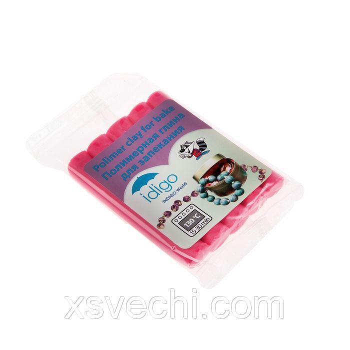 Пластика — полимерная глина 50г розовая флюоресцентная