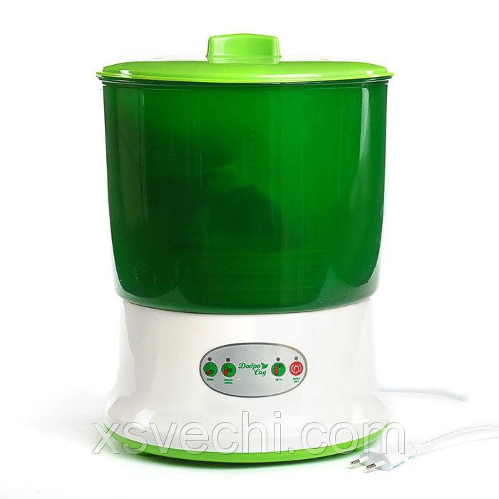 Проращиватель семян ДоброСад здоровье PRO DS01, доп. лоток, зеленый