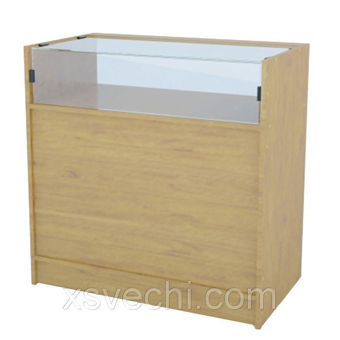 Прилавок демонстрационный эконом, стекло - 350мм, 900*445*900мм, бук
