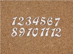 Набор цифр от 1 до 12 (9)